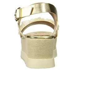 8aa95dbe5c28 Betsey Johnson Shoes - Betsey Johnson Women s Pipper Wedge Sandal gold 8